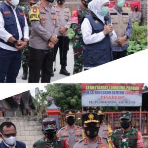 Gubernur Jatim Tinjau Persiapan PPKM Berskala Mikro di Kabupaten Madiun