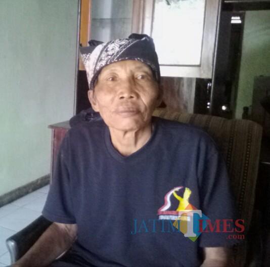 Sanusi Marhaedi alias Kang Usik, salah seorang tokoh KOPAT Desa Glagah Banyuwangi (Nurhadi Banyuwangi Jatim Times)