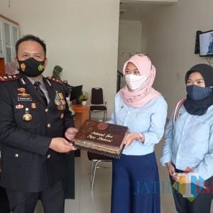 HPN 2021, Kapolres Malang Beri Kejutan Karyawan MalangTIMES