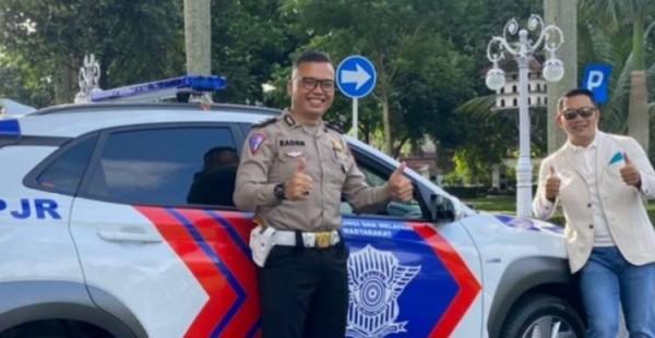 Mobil litrik polisi (Foto: Instagram Ridwan Kamil)