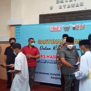Peringati Hari Pers Nasional, KWB Bangkalan Santuni Anak Yatim