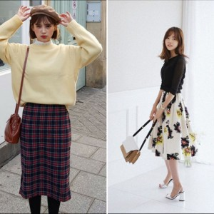 Inspirasi Pakai Midi Skirt ala Korea, Simple dan Modis Abis!