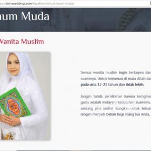 Buntut Panjang Aisha Wedding yang Promosikan Nikah Muda di Usia 12 Tahun
