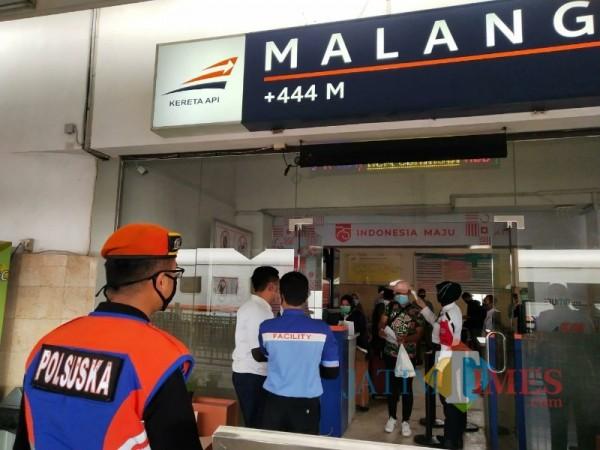 Suasana Stasiun Kota Malang