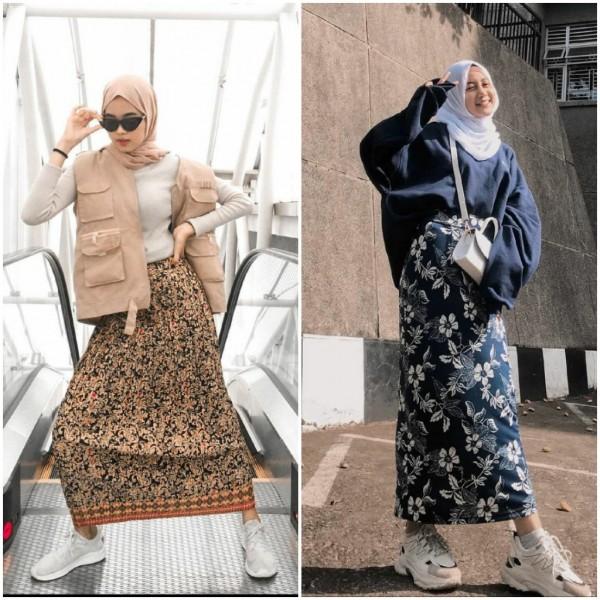 Stylish pakai batik untuk outfit harian ala hijabers. (Foto: source Instagram).