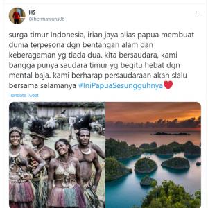 Tagar Papua yang Sesungguhnya Jadi Trending Topic Twitter