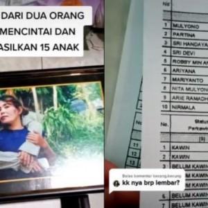 Viral Suami Istri Punya 15 Anak, Kartu Keluarga Jadi Sorotan