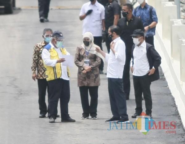 Bendungan Tukul ketika ditinjau Presiden Jokowi