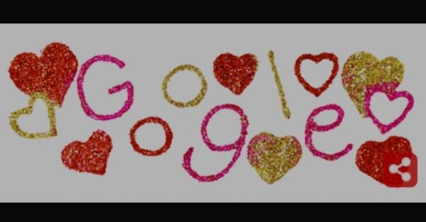 Google doodle sambut Hari Valentine 2021. (Foto: screen capture google).