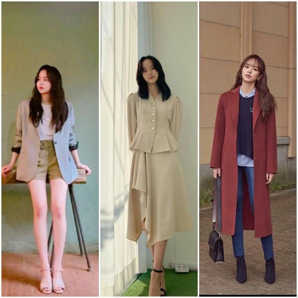Inspirasi Korean Office Look ala aktris Drama Korea. (Foto: Instagram @wow_kimsohyun).