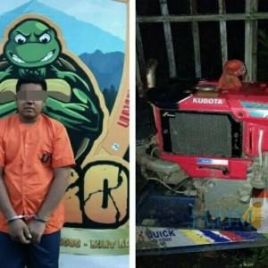 Pencuri Mesin Bajak Sawah Berhasil Diringkus Polsek Jatiroto