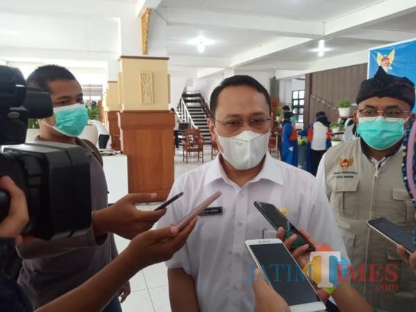 dr Fauzan Adima, Juru Bicara Gugus Tugas Penanganan Percepatan Covid-19 Kota Kediri. (Foto: Bams Setioko/JatimTIMES)