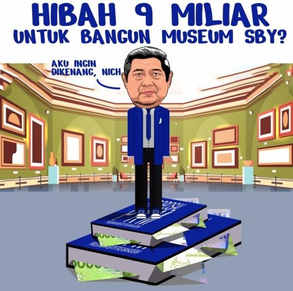 Meme yang melatarbelakangi pembangunan museum SBY. (Sumber : Twitter)