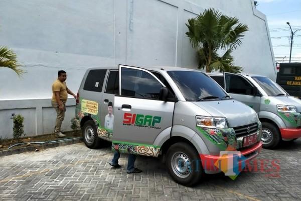 Salah satu Mobil Sigap saat dilakukan pemeriksaan di kantor Kejari Pamekasan beberapa waktu yang lalu (Foto: Istimewa/Jatimtimes.com)