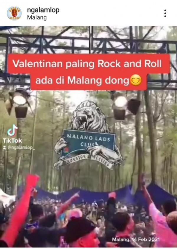 Screenshot video viral (@ngalamlop)