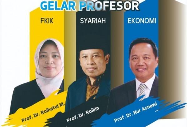 Tiga Guru Besar Baru di UIN Malang (UIN Malang)