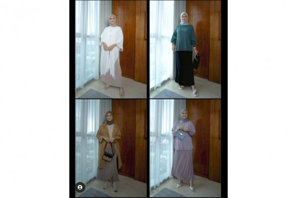 Inspirasi padu padan basic skirt dengan berbagai outfit ala Indah Nada Puspita. (Foto: Instagram @indahnadapuspita)