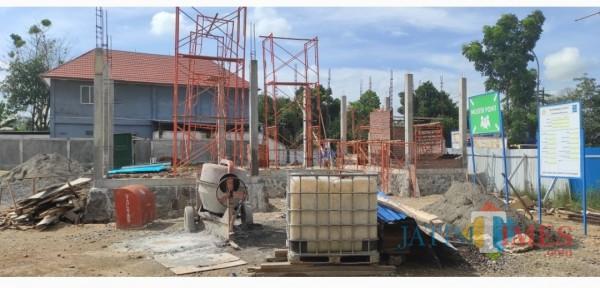 Lokasi proyek pembangunan gedung Bulog