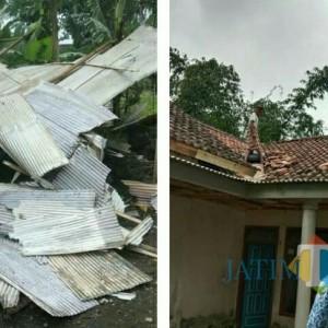 Angin Puting Beliung Di Penanggal Lumajang, Belasan Atap Rumah Rusak