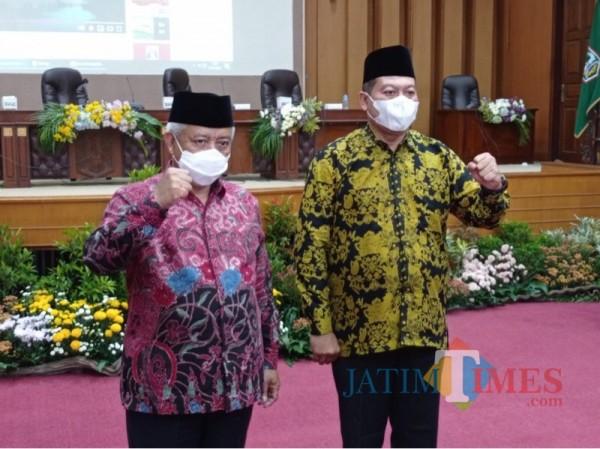 Bupati Malang terpilih Sanusi (kiri) dan Wakil Bupati Malang terpilih Didik Gatot Subroto (kanan). (Foto: Dokumen JatimTIMES)