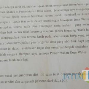 Ketua RT dan RW Mundur, Kades Wates: Masih Permohonan