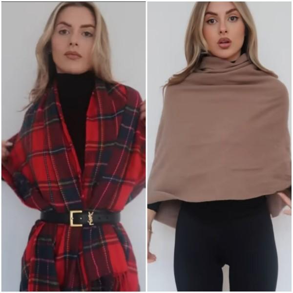 Inspirasi pemakaian scarf menjadi berbagai outfit. (Foto: Instagram @fashioninflux)