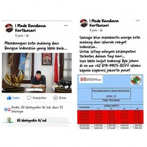Muncul Akun Fake Ketua DPRD Kota Malang, Begini Respons Made Rian