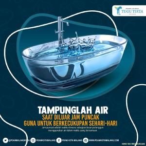 Tips Manajemen Kebutuhan Air, PDAM Kota Malang Ajak Pelanggan Tampung Air di Luar Jam Puncak
