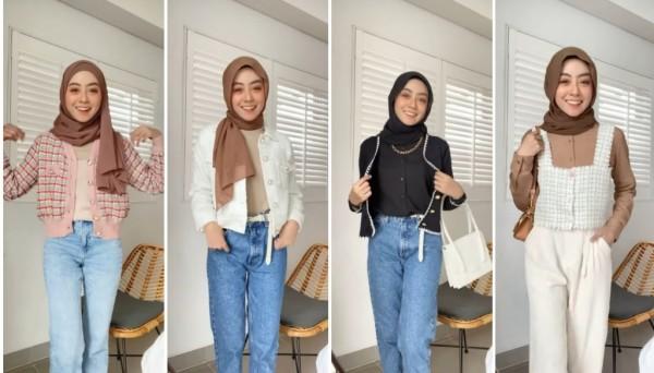 Inspirasi Outfit ala Drama Korea True Beauty untuk Hijabers. (Foto: Instagram @meiraniap).
