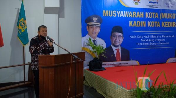 Ketua Kadin Kota Kediri 2020-2025 Drs. H. M Solikhin. (Foto: Bams Setioko/JatimTIMES)