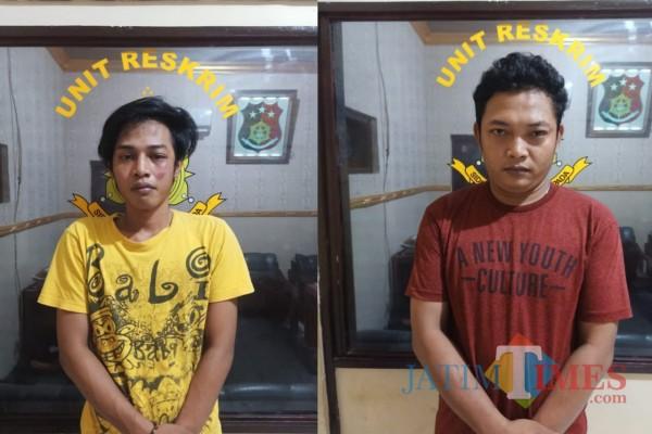 Dua tersangka yang diamankan petugas (Foto:  ist)
