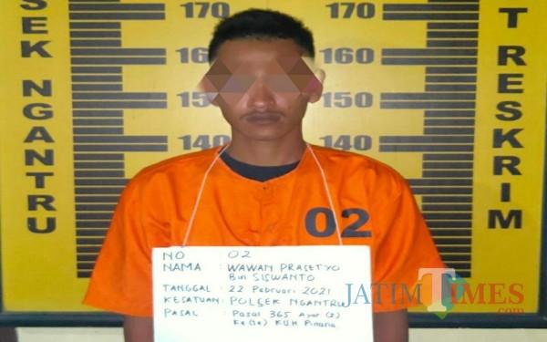 Tersangka Wawan / Foto : Dokpol / Tulungagung TIMES