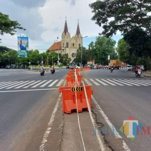 Median Jalan Basuki Rahmat Dibongkar, Bakal Diterapkan Satu Arah