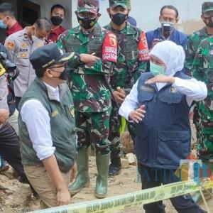 Bersama Gubernur Jatim, Bupati Pamekasan Kembali Pantau Lokasi Longsor