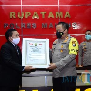Kado Ulang Tahun Kapolres Malang Trust Award dari Lemkapi