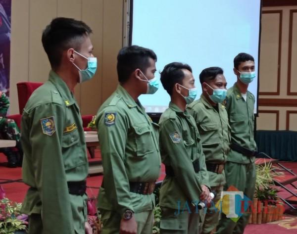 Linmas muda yang dimiliki Kota Malang (Hendra Saputra)