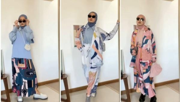 Inspirasi pattern style ala hijabers Inas Rana. (Foto: Instagram @inasrana).