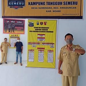 Poskamling Dijadikan Posko Kampung Tangguh Semeru, Desa Sumengko Lawan Covid-19