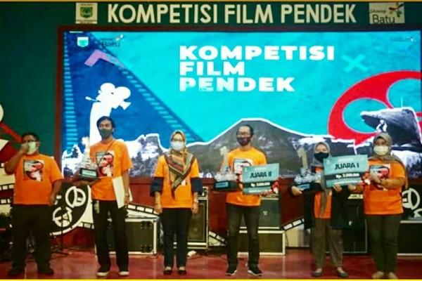 Pemenang kompetisi film pendek telah diumumkan di Gedung ATV, Oro-oro Ombo, Kota Batu, Jum'at, (26/2/2021) kemarin (Foto: Disparta Batu for JatimTIMES)