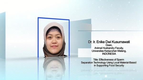 Dekan Fakultas Peternakan (Fapet) Universitas PGRI Kanjuruhan Malang (Unikama) Dr. Ir. Enike Dwi Kusumawati, S.Pt., MP., IPM (Ist)