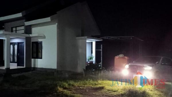 Rumah terduga teroris yang terletak di Desa Tambakrejo Kecamatan Gurah Kabupaten Kediri. (Foto: Bams Setioko/ JatimTIMES)