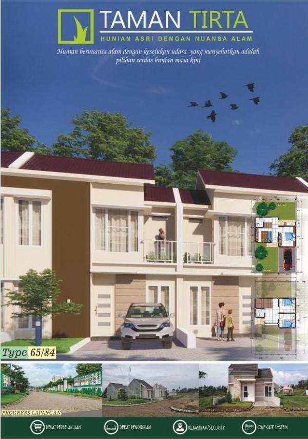 Rumah dua lantai di Taman Tirta yang terlihat modern dan mewah (Ist)