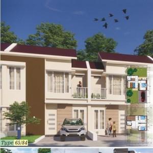 Beli Rumah Dua Lantai di Taman Tirta, Bonus Kanopi