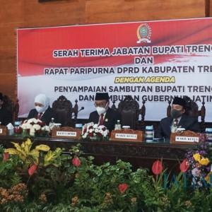 Ikuti Instruksi Mendagri, DPRD Trenggalek Gelar Rapat Paripurna Penyambutan Bupati