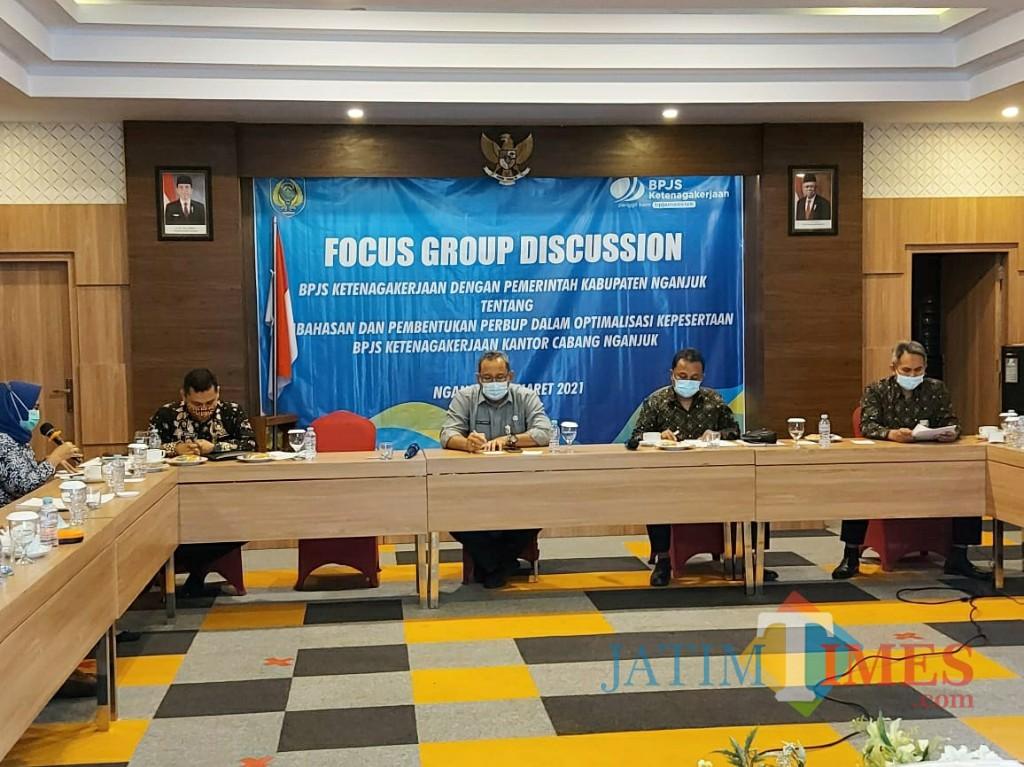 Bpjs Ketenagakerjaan Kediri Gelar Fgd Dengan Pemkab Nganjuk Jatim Times