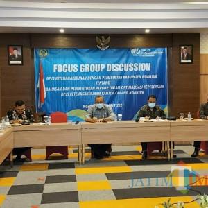 BPJS Ketenagakerjaan Kediri Gelar FGD dengan Pemkab Nganjuk