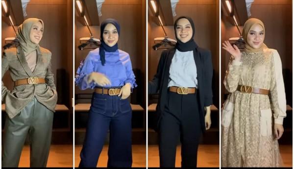 Tips penggunaan fashion item statement belt agar busana terlihat lebih modis. (Foto: Instagram @tiqasya).