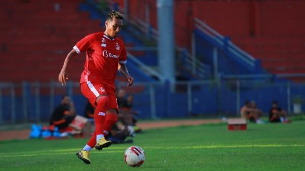 Tim Persik Kediri ketika berlatih di Stadion Brawijaya Kota Kediri. (Foto: Ist)