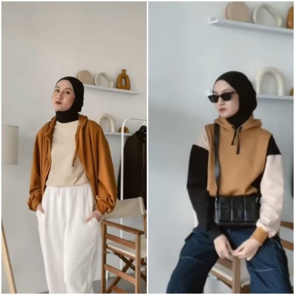 Inspirasi tampik stylish dengan outfit casual ala hijabers Inas Rana. (Foto: Instagram @inasrana).