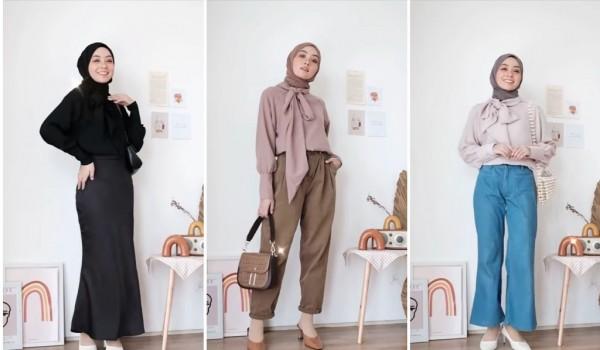 Inspirasi office look ala hijabers Meirani Amalia. (Foto: Instagram @meiraniap).